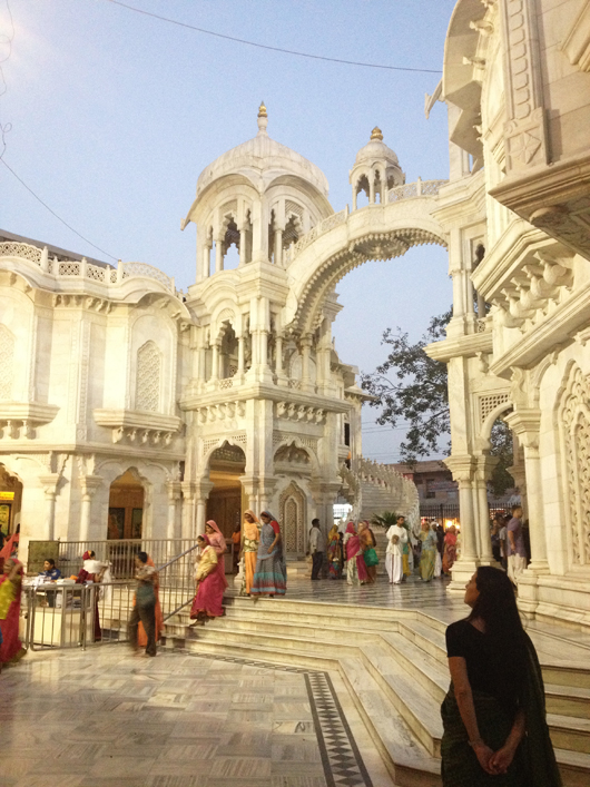 At Radha Damodar Mandir in Vrindavan