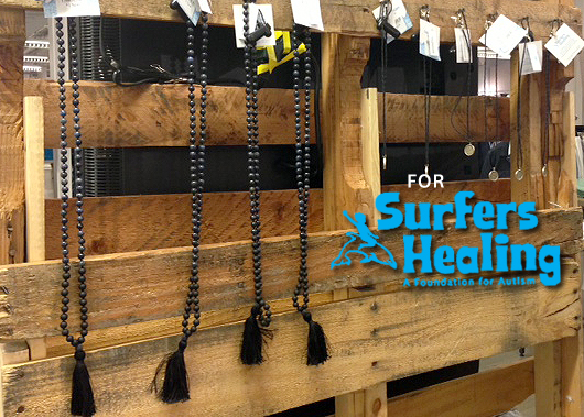 Malas designed to benefit Surfer's Healing.