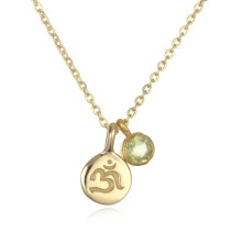 18kt gold om necklace