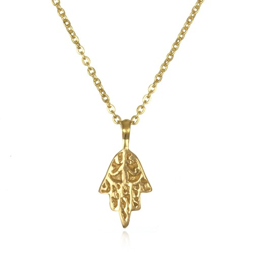 18k gold hamsa necklace
