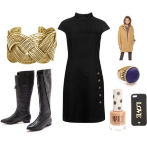 working outfit with cuff bracelet