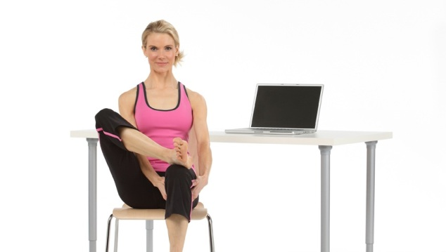 Thread the Needle Hip Stretch Yoga Pose